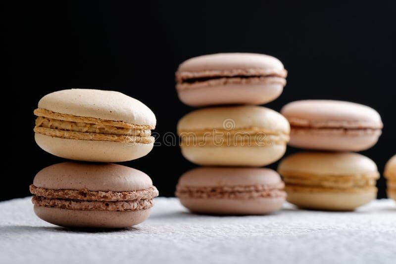 原始的法国蛋白杏仁饼干 图库摄影