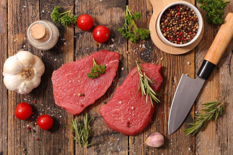 原始的牛肉 免版税库存照片