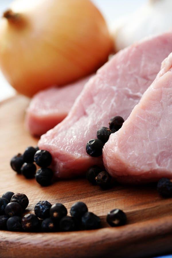 原始的猪肉 免版税库存图片