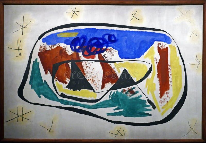原始的绘画的照片:'绘画'胡安・米罗 库存图片