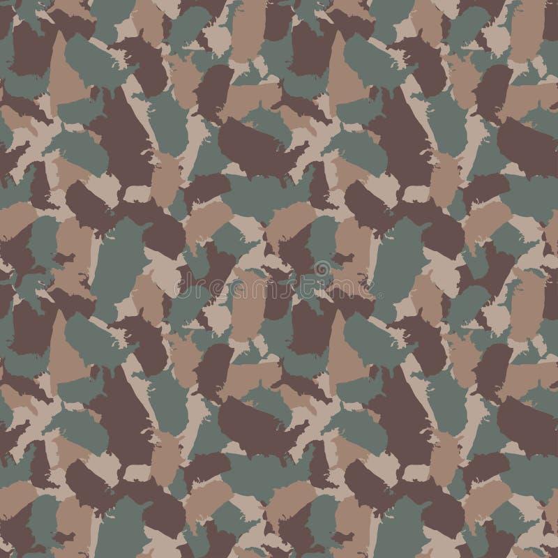 原始的美国形状camo无缝的样式 五颜六色的美国都市伪装 传染媒介织品纺织品印刷品设计 皇族释放例证