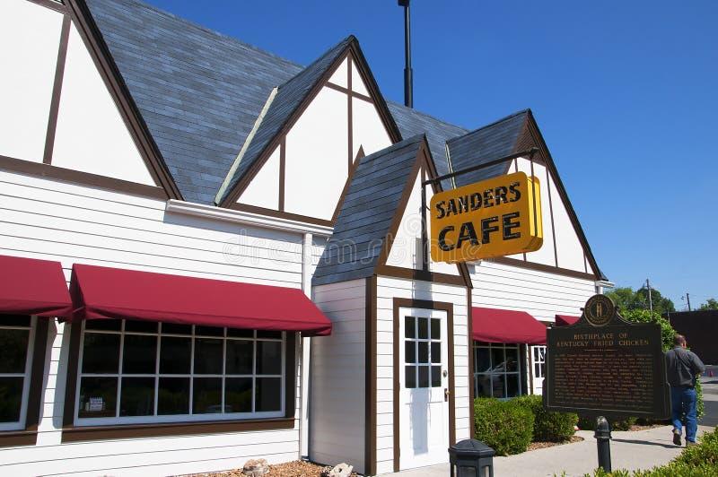 原始的肯德基家乡鸡咖啡馆在Corbin肯塔基美国 库存图片