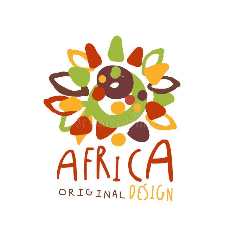 原始的非洲部族乱画商标 库存例证