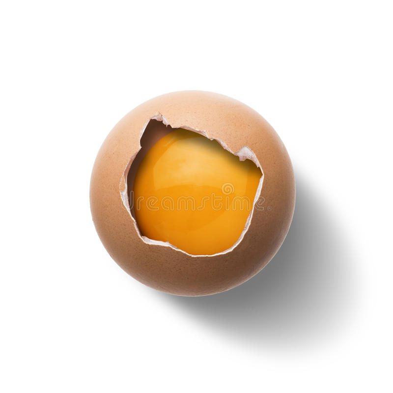 原始的鸡蛋 免版税库存图片