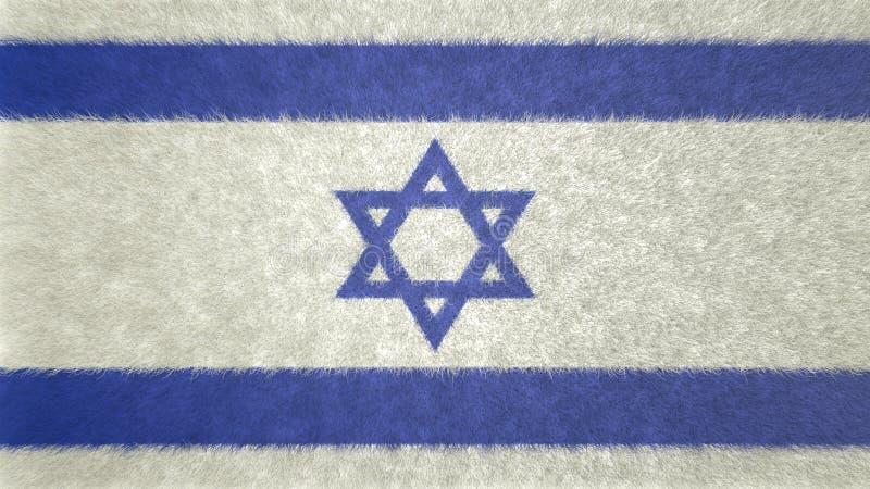 原始的3D图象,以色列的旗子 库存例证
