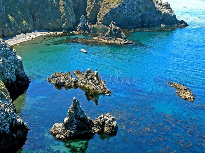 原始anacapa的小海湾 免版税库存图片