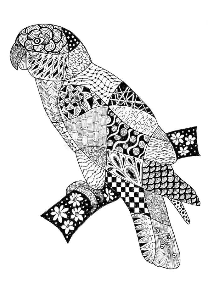 Download 原始zentangles画鹦鹉 库存例证. 插画 包括有 图画, 例证, 原始, 投反对票, 栖息处, 空白 - 72359979