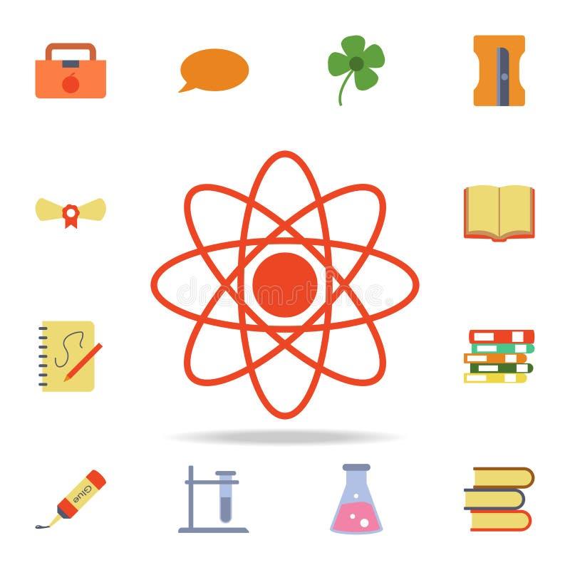 原子上色了象 详细的套色的教育象 优质图形设计 其中一个网站的汇集象,网 向量例证