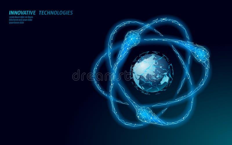 原子在世界地图的微粒叹气 核军用武器全球性危险 平音的力量防御国家安全 核武器胳膊 皇族释放例证