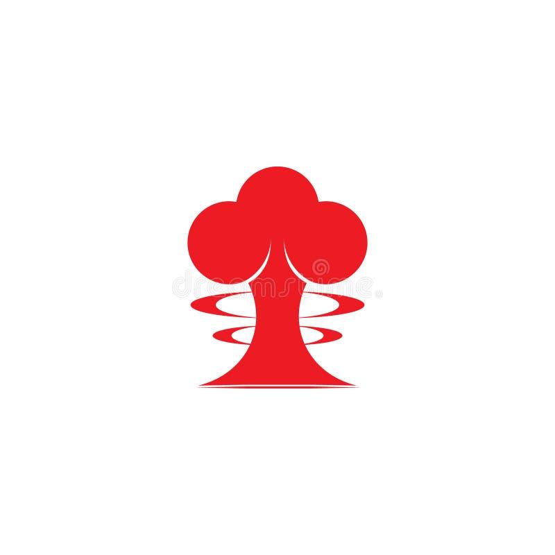 原子弹乱画设计标志传染媒介 向量例证