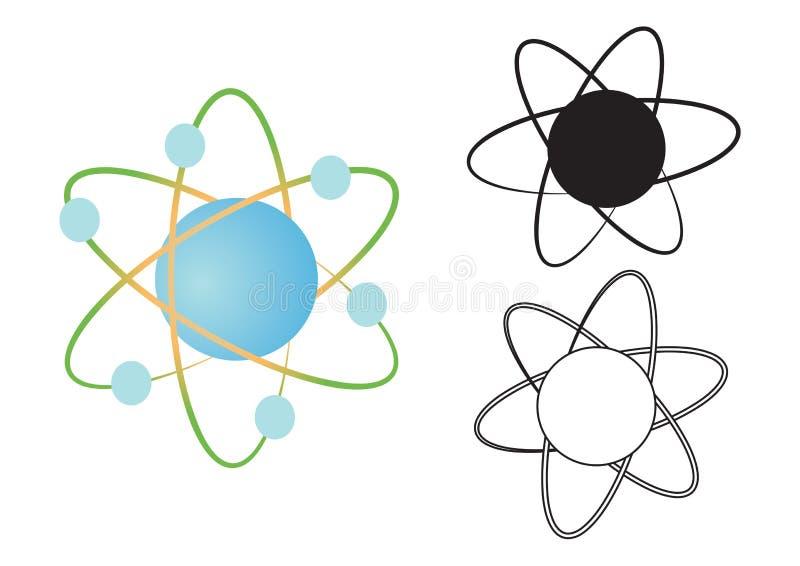 原子核向量 库存例证
