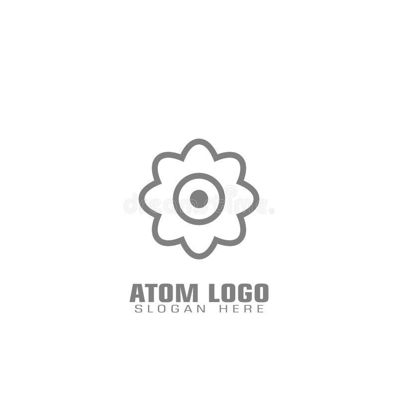 原子的标志 库存例证