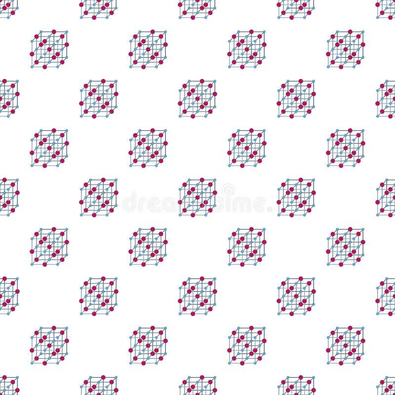 原子立方体样式无缝的传染媒介 皇族释放例证