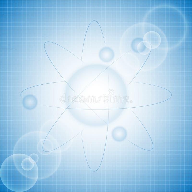 原子背景 免版税库存照片