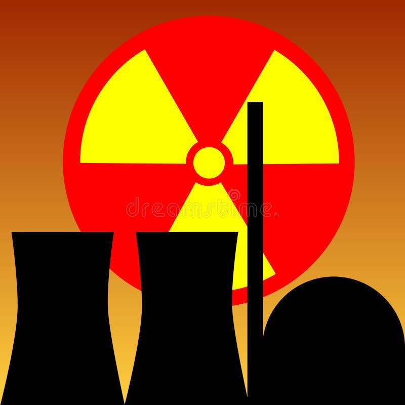 原子能发电站 皇族释放例证