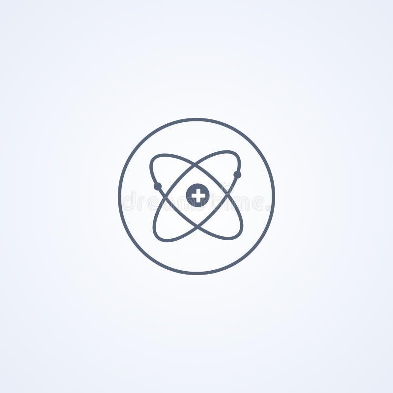 原子能,传染媒介最佳的灰色线象 皇族释放例证