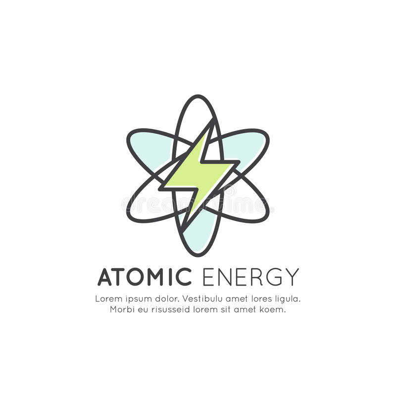 原子能驻地发电器,被隔绝的传染媒介象样式例证 向量例证