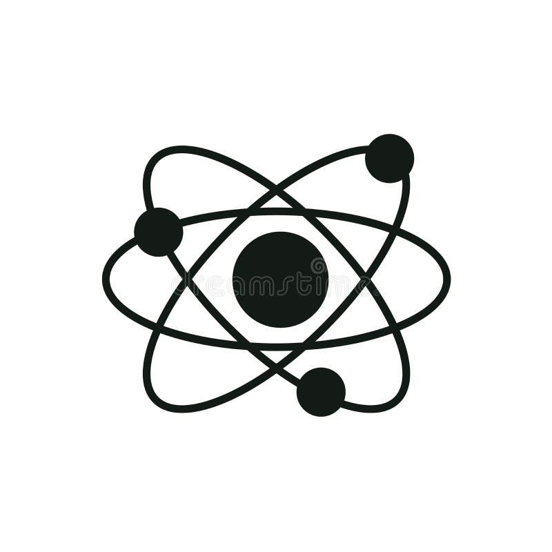 原子象 r 科学,教育,核物理,科学研究的标志 三个电子 皇族释放例证