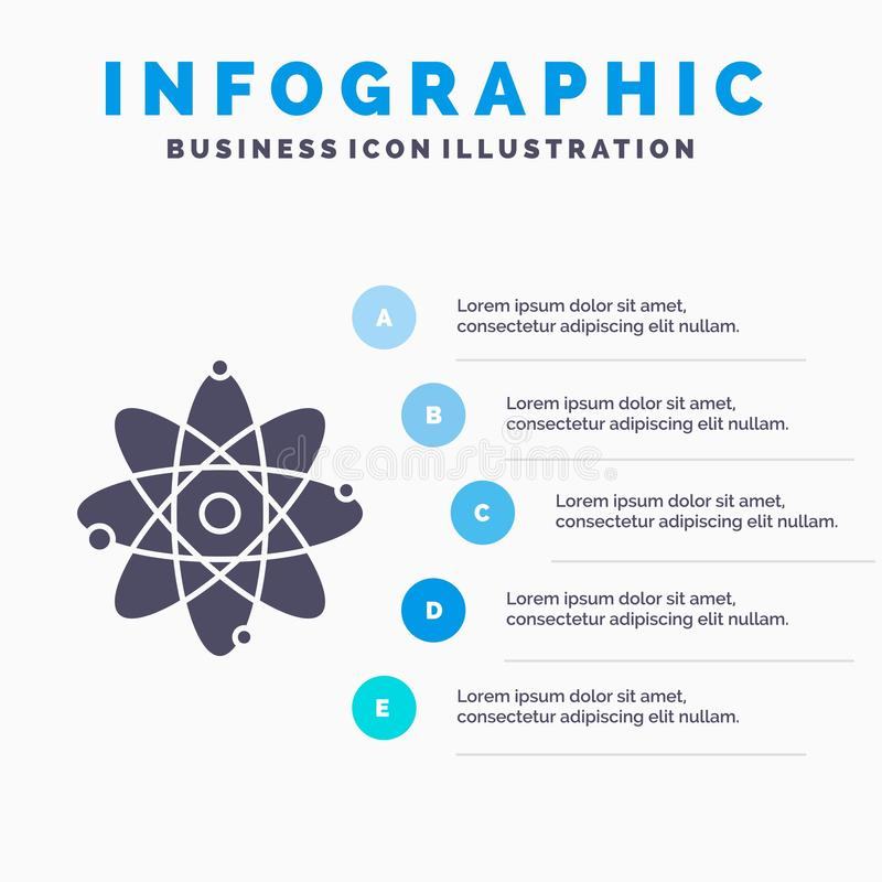 原子,核,分子、化学、科学Infographics模板网站的和介绍 r 库存例证