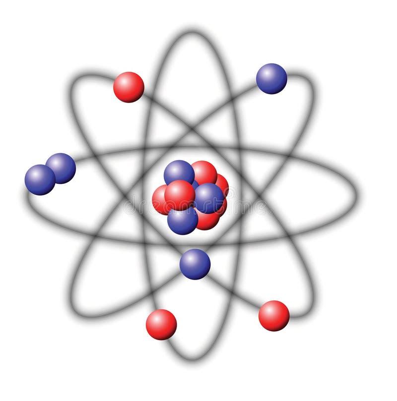 原子 皇族释放例证