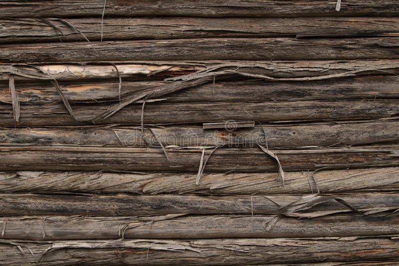 原木小屋墙壁 库存图片
