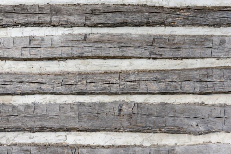 原木小屋背景的房屋板壁细节 库存照片