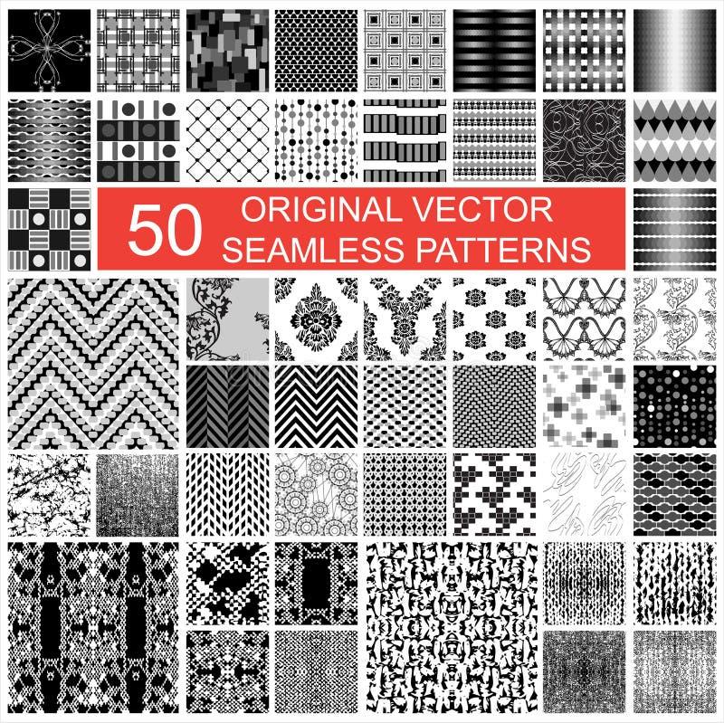 50件原物传染媒介无缝的样式 向量例证