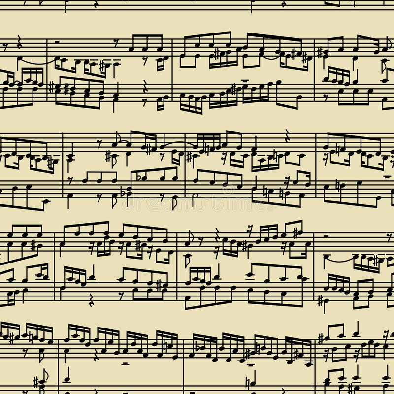 原稿音乐附注 向量例证