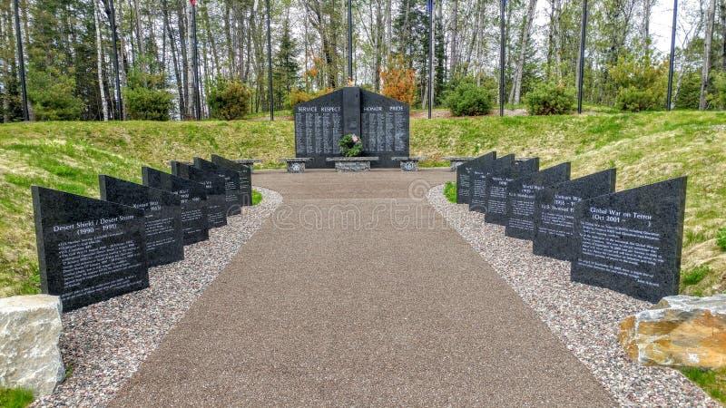 原野退伍军人纪念火焰-巨石城连接点,WI 免版税库存图片
