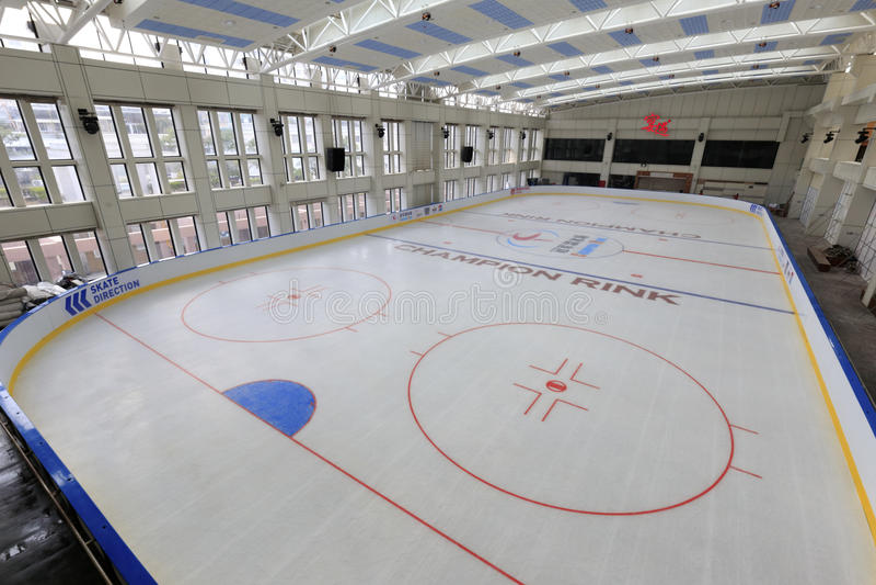 厦门冠军滑冰场 免版税库存图片