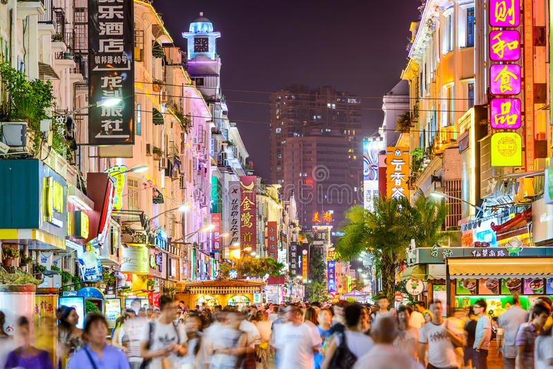 厦门,中国步行者路 库存图片