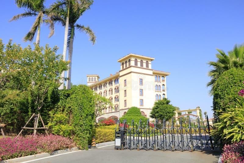 厦门diyuan维多利亚旅馆,多孔黏土rgb的电滚滑门 库存图片