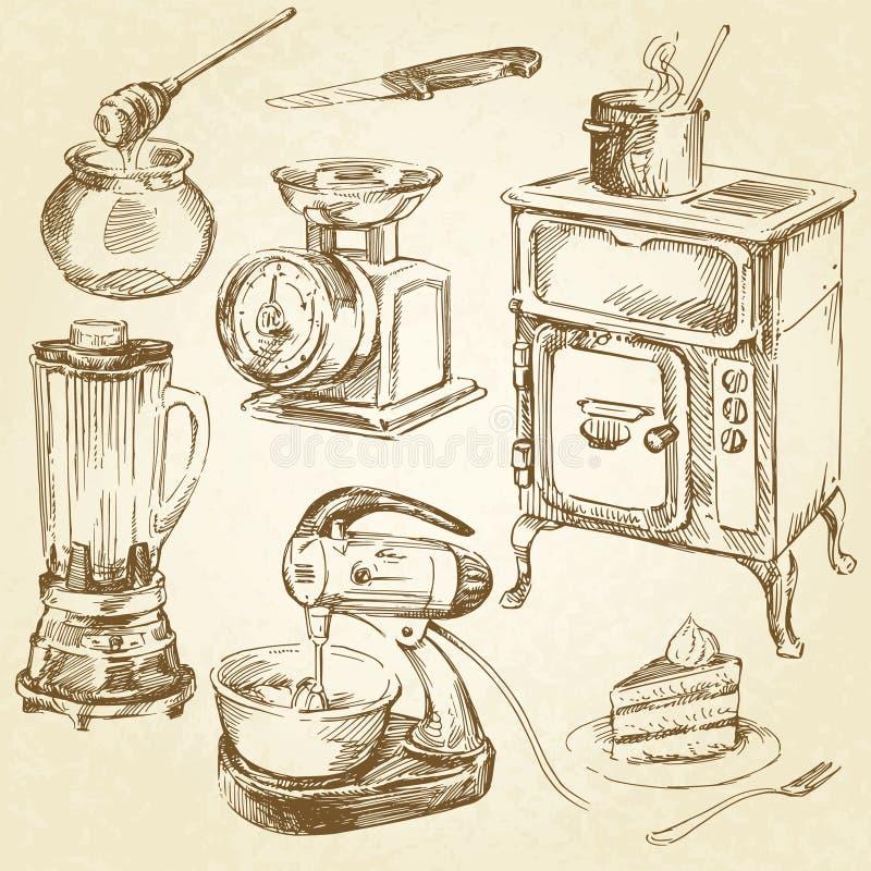 厨具 库存例证