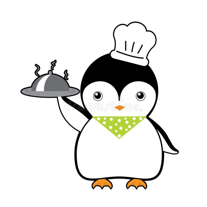 厨师企鹅动画片传染媒介 皇族释放例证