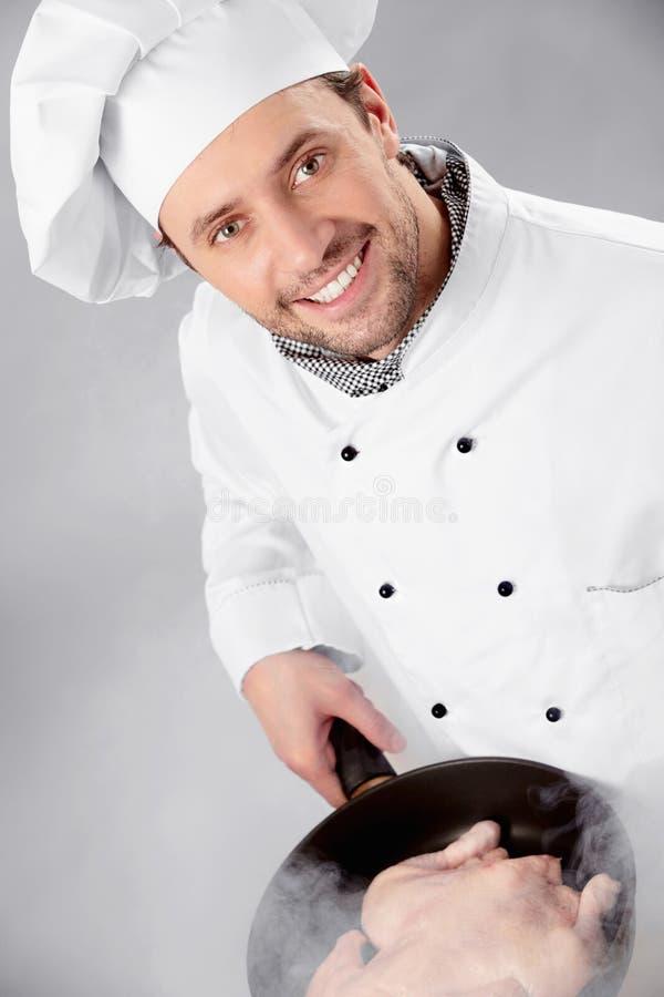 厨师准备 免版税库存图片