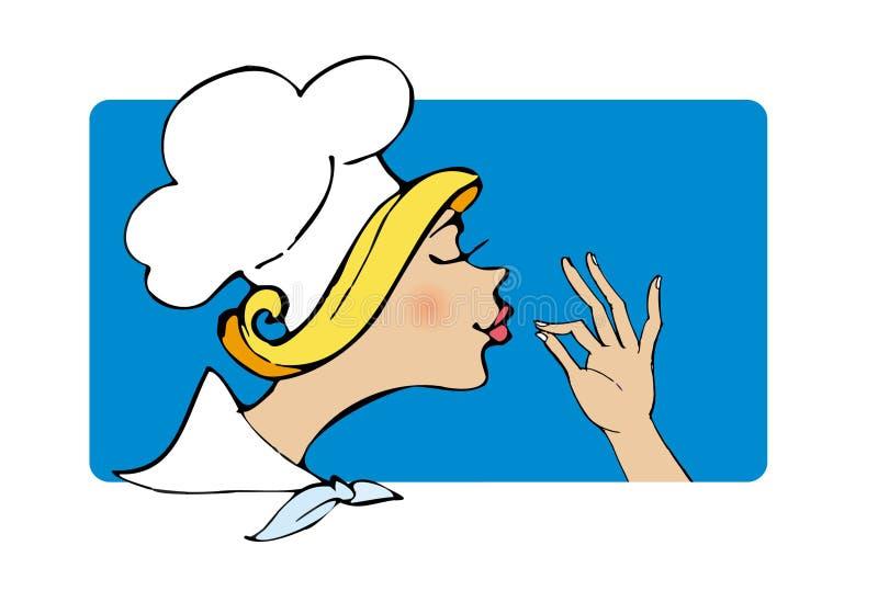 厨师夫人 皇族释放例证