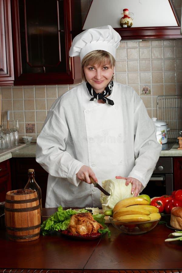 厨师妇女 免版税库存图片