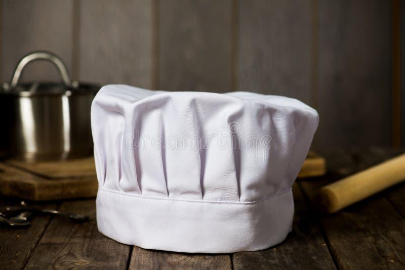 厨师帽子有背景 库存照片