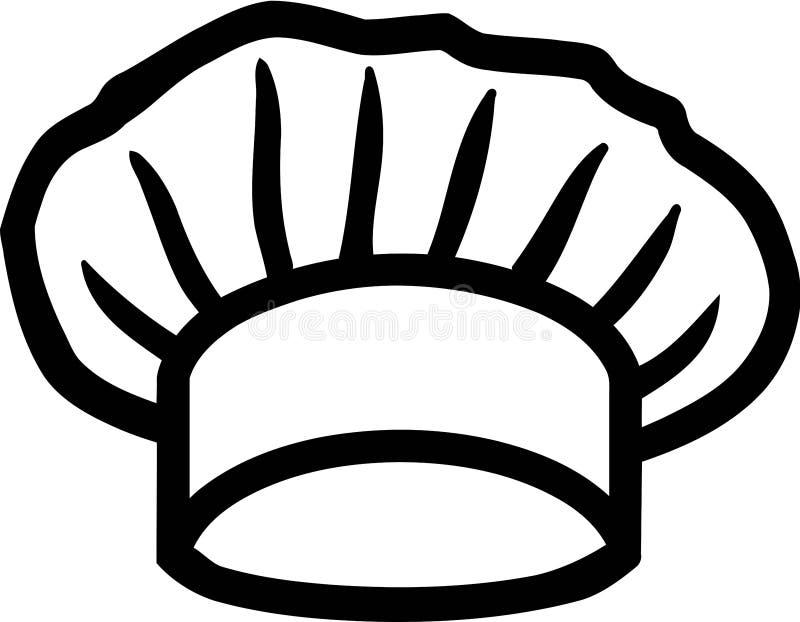 厨师的帽子厨师 向量例证