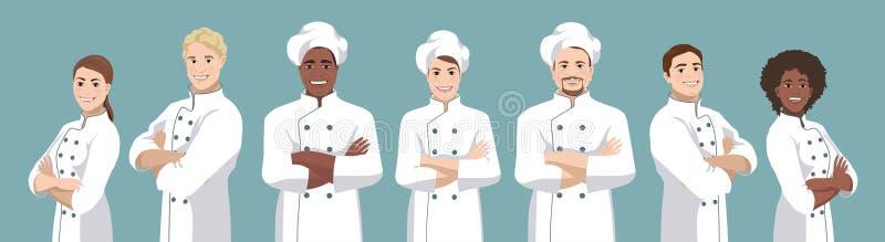 厨师集合传染媒介例证 向量例证