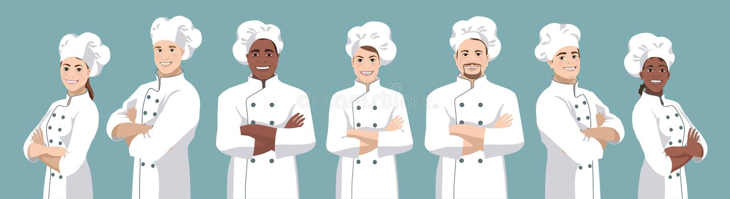 厨师集合2 皇族释放例证