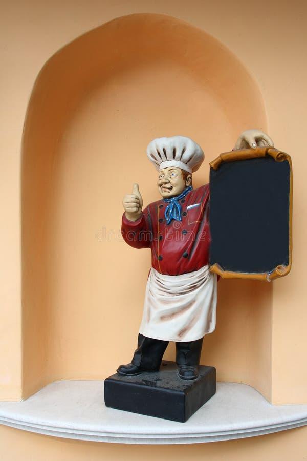 厨师雕象 库存图片