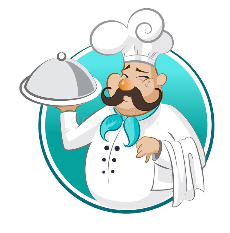 厨师餐馆 主厨 向量例证