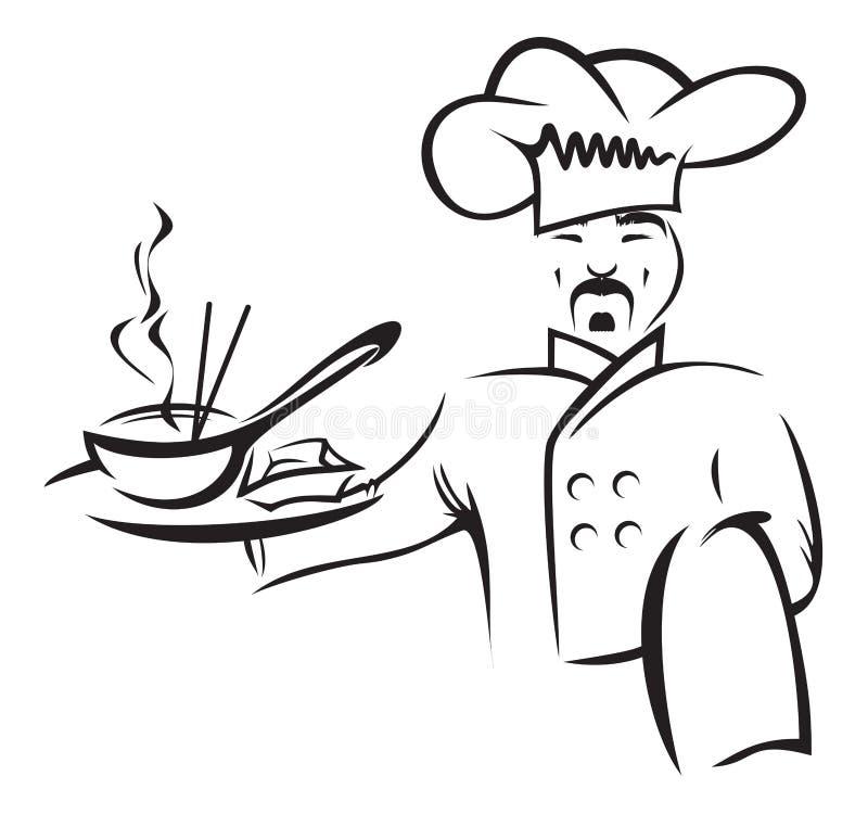 厨师 向量例证
