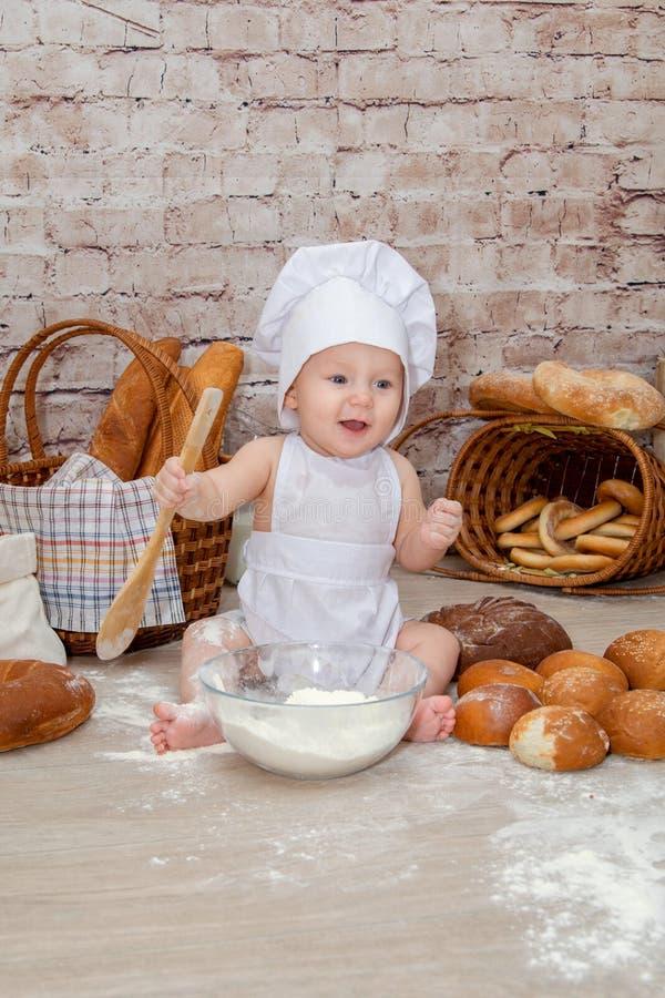 年轻厨师 库存照片