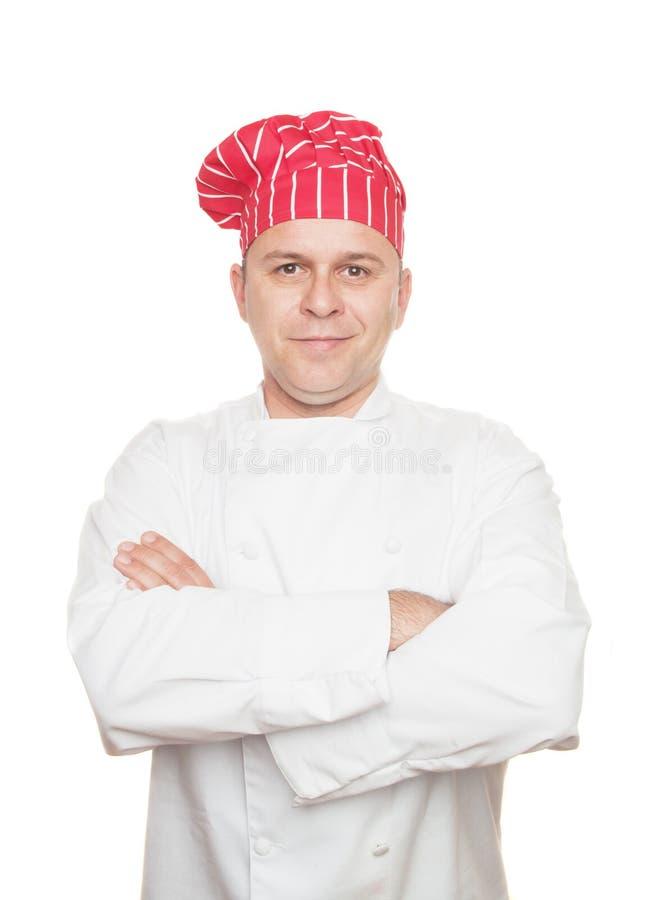 主厨微笑 库存照片