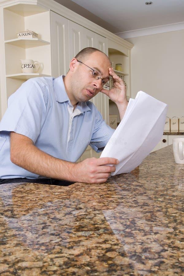 厨房人担心 免版税库存图片
