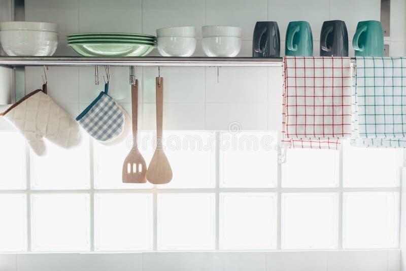 厨房内部和器物 免版税图库摄影