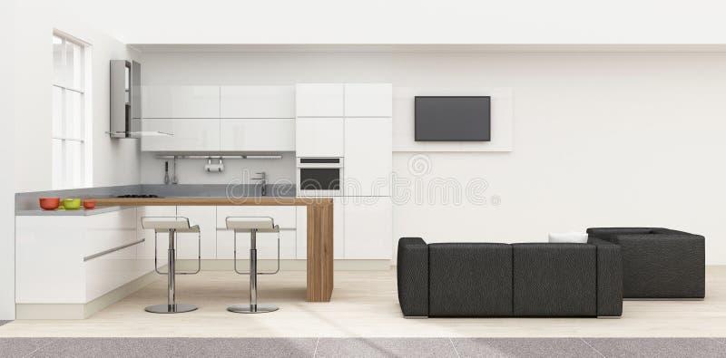 厨房内部3D翻译 向量例证