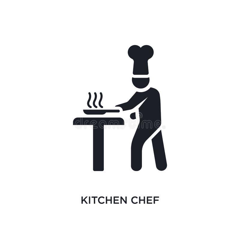 厨房厨师被隔绝的象 从人概念象的简单的元素例证 厨房厨师编辑可能的商标标志标志设计 向量例证
